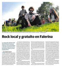 Rock local y gratuito en Falerina
